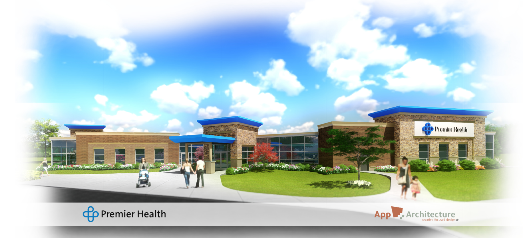 Drawing of potential Monroe Health Center